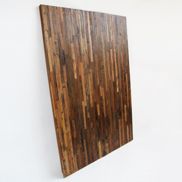 Natural Reclaimed Boat Wood Panel - Image 2 of 2