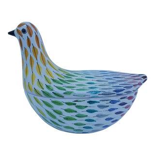 Italian Raymor Decorative Bird Ceramic Box / Vase .