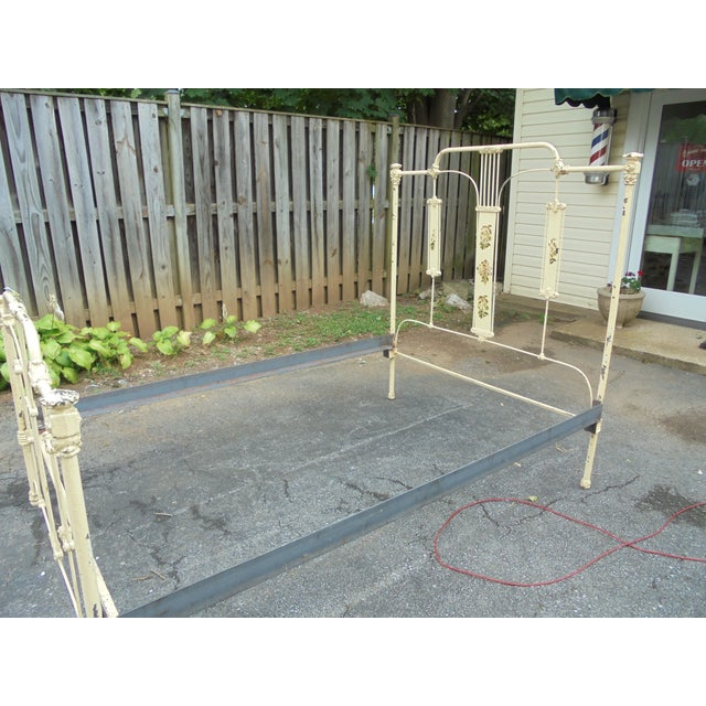 Antique Iron Full Bed - Image 10 of 12