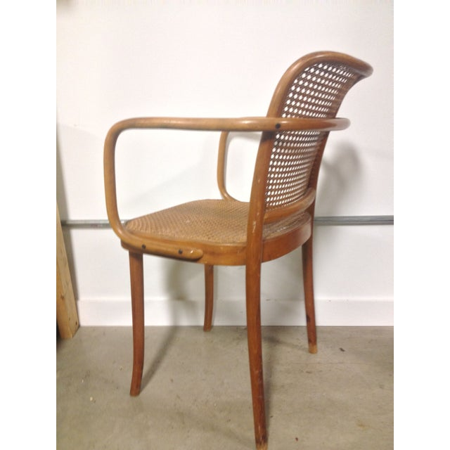 Thonet Mid-Century Bentwood and Cane Armchair - Image 5 of 8