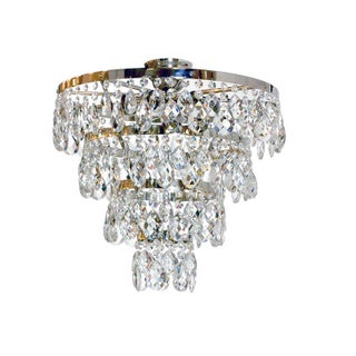 Plafond Nickel & Crystal Ayla Chandelier
