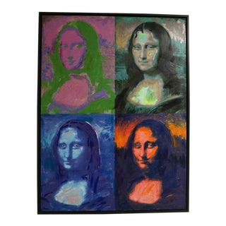 Oil on Canvas Painting, Homage to Andy Warhol the Mona Lisa