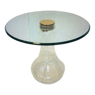 Sarreid Ltd. Glass and Brass Side Table