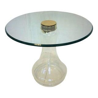 Sarreid Ltd. Glass and Brass Side Table
