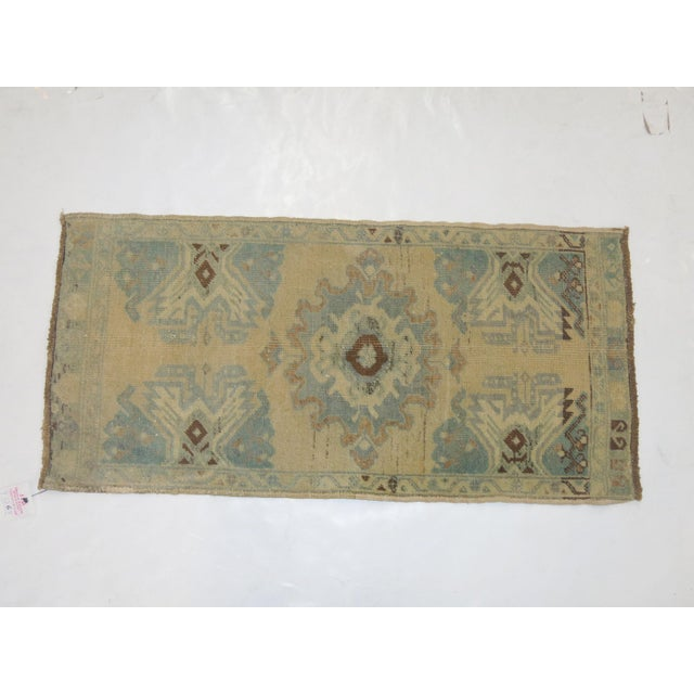 Vintage Hand-Knotted Oushak Rug 1'8'' X 3'4'' - Image 3 of 3