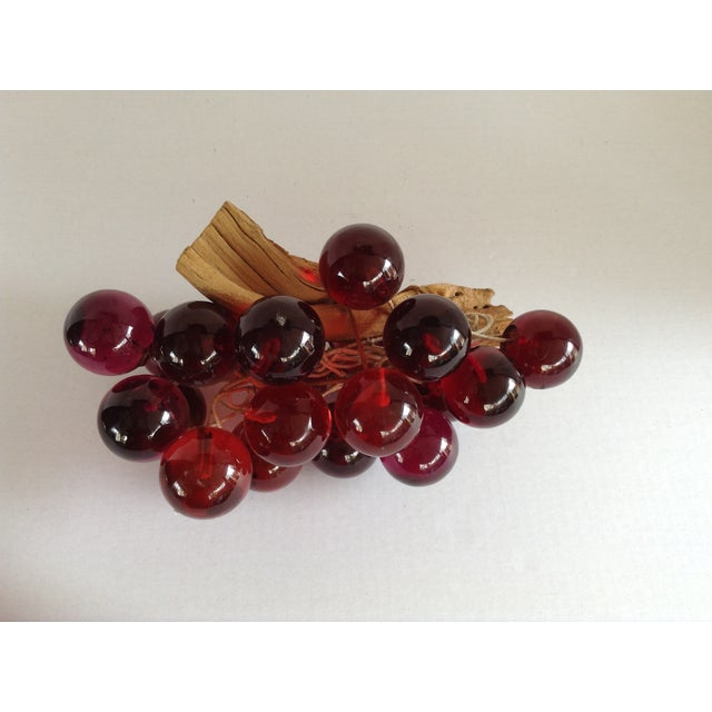 Image of Vintage Bunch Lucite Grapes