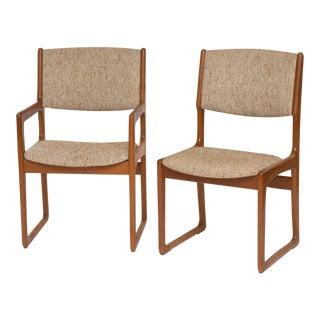 Set of 8 Danish Modern Teak Dining Chairs 1963