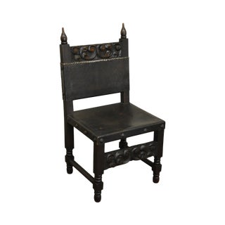 Carved Spanish Renaissance Style Vintage Side Chair