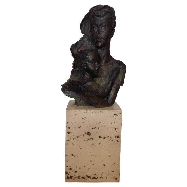 Image of LM Lafuente Mother and Child LE Sculpture