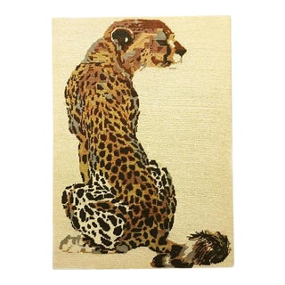 Hollywood Regency Leopard on Board Needlepoint