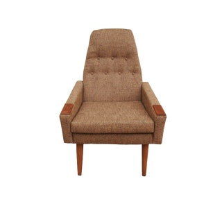 Adrian Pearsall Style Tall Back Lounge Chair