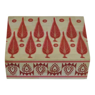Red & Ivory Maharani Bone Box