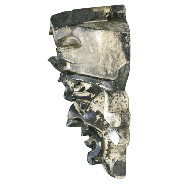 Pre-Columbian Style Terra Cotta Mask - Image 1 of 4