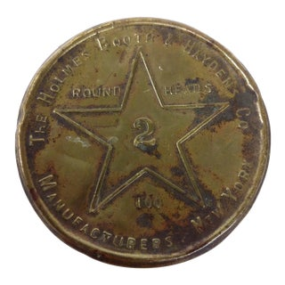 The Holmes Booth & Haydens Co. Brass Tin