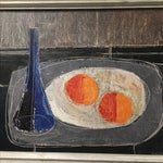 Image of Two Oranges Mid-Century Painting by Jean Volovsek