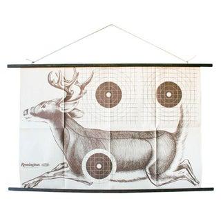 1970s Vintage Paper Shooting Target of Deer