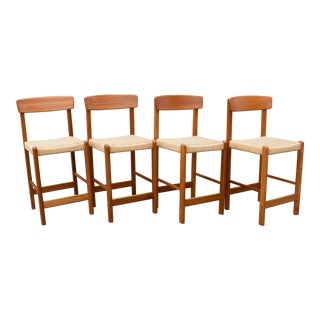 Vintage Mid-Century Teak Counter Stools - Set of 4