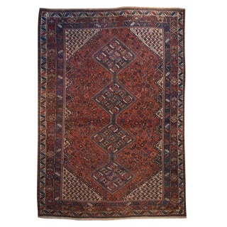 19th Century Afshar Ghashghaei Carpet
