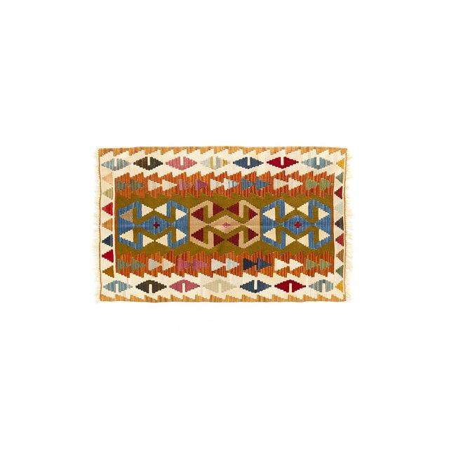 """Image of Multicolor Kayseri Turkish Kilim - 3'3"""" X 5'3"""""""