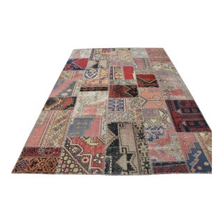 Turkish Faded Patchwork Rug - 6′11″ × 9′11″