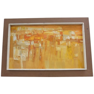 Vintage Abstract Oil Painting c.1980's by Margaret
