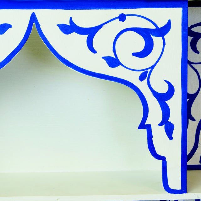 Bleu Majorelle on White Wall Shelf - Image 3 of 3