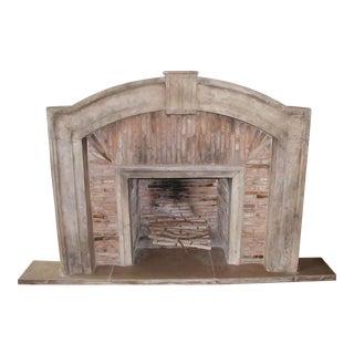 Italian Tuscan Marble Fireplace