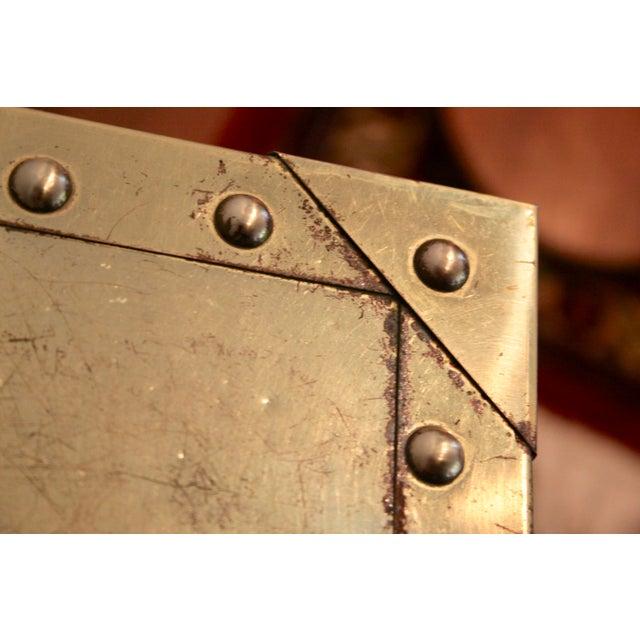 Sarreid-Style Brass Studded Pedestals - A Pair - Image 9 of 11