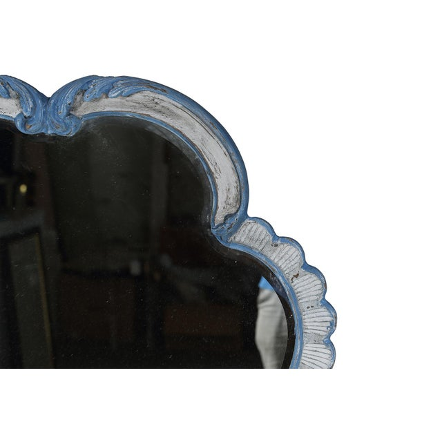 La Barge French-Style Blue & White Mirror - Image 4 of 9