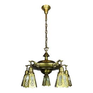 Antique Pan Light Fixture (5-Light)