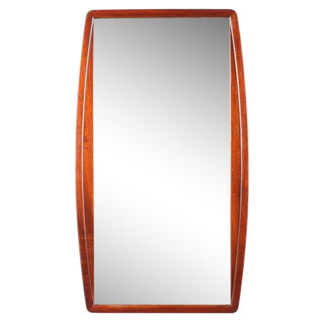 Image of 1960s Mid-Century Mahogany Mirror