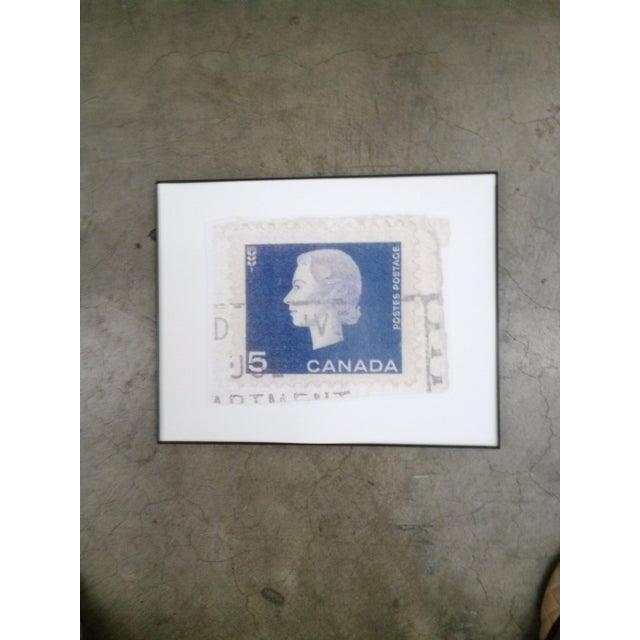 Image of Reproduced Vintage Stamp of Queen Elizabeth II
