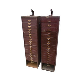 Vintage Industrial Watch Watchmakers Cabinet - Pair Plus Parts