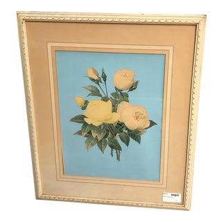 Framed Retro Flower Print