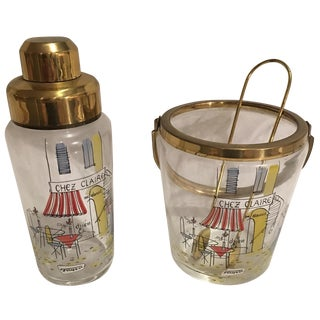 Vintage Parisian Cafe Barware Set
