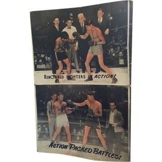 Original Large Lobby Boxing Poster Man Cave Art