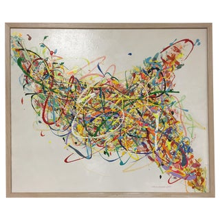 Steve Barylick Multicolor Abstract Painting