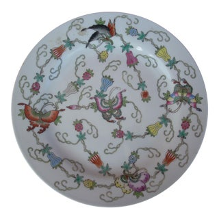 Chinoiserie Floral Art Plate