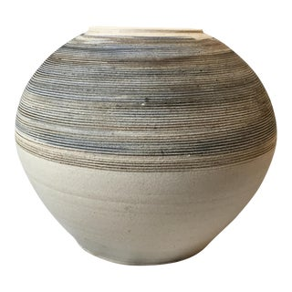 Large Sand Grain Pottery Vase