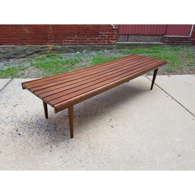 Mid-Century Slat Bench Coffee Table - Image 7 of 7