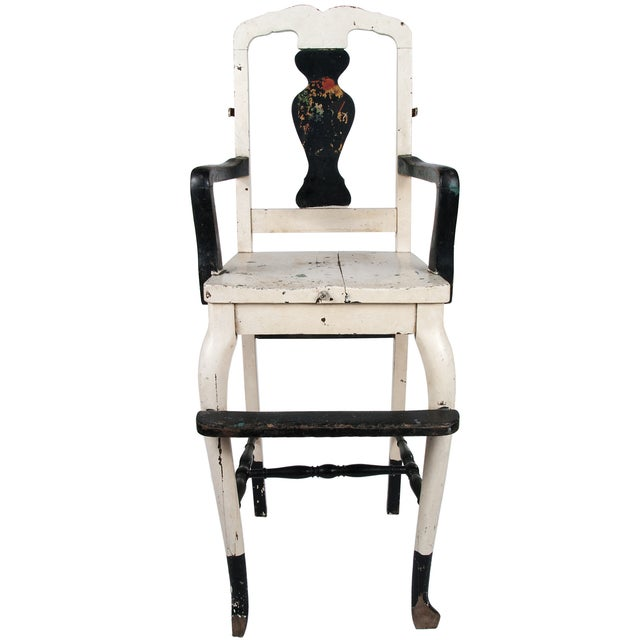 Vintage Painted Wood High Chair - Image 1 of 4