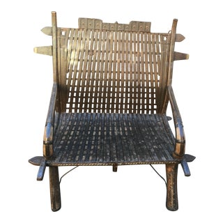 India Teak Wood & Iron Bench