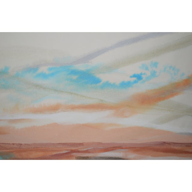 Large Watercolor Painting - Image 3 of 3