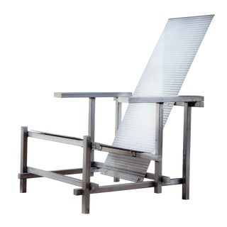 Gerrit Rietveld Style Industrial Steel Chair