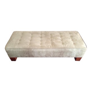 Crate & Barrel Tufted Suede Ottoman