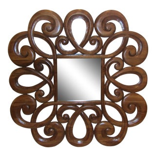 Wood Scroll Design Mirror