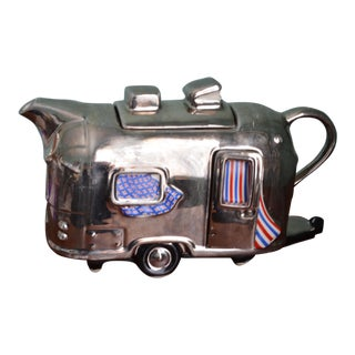 Large Airstream Camper Teapot, Made in England