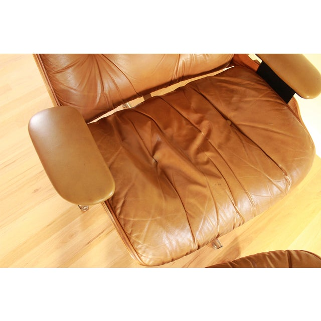 Eames Style Selig Chair & Ottoman, 1975 - Image 5 of 10
