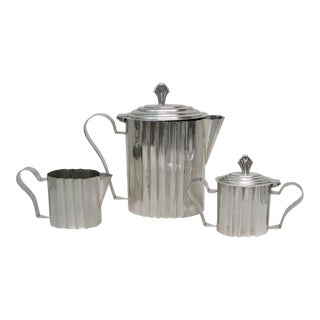 Art Deco Style Silverplate Coffee Service- Set of 3