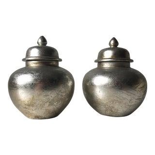 Tozai Silver Lidded Jars - A Pair